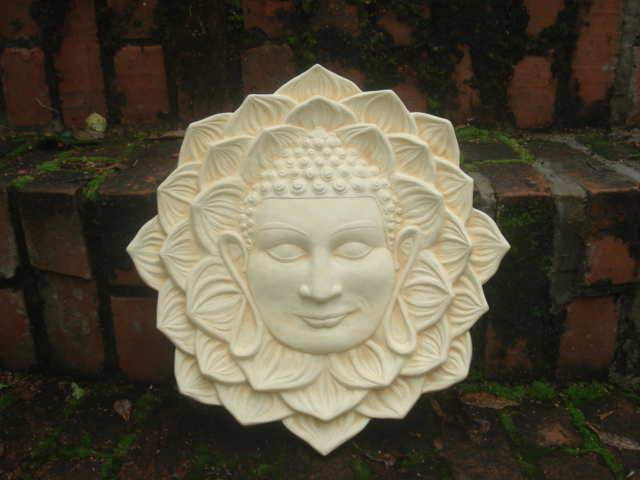 Buddha In Lotus Flower Harden Plaques And Sculpture